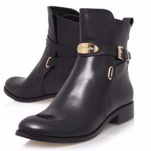 Michael Kors Shoes - NWOB Michael Kors Arley Ankle Boots Black Gold